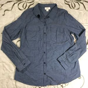 Blue loft Chambray Button Up Shirt